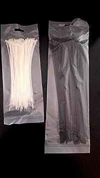 15 longeurs disponibles au choix 100 colliers de serrage 292 x 3,6 mm Blanc ou Noir