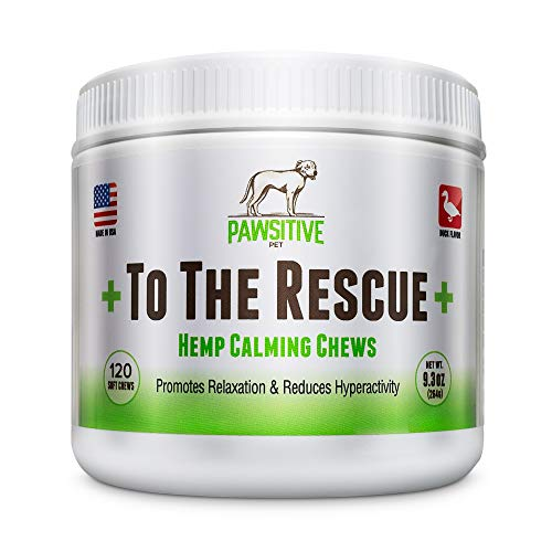 Calming Treats for Dogs +To The Rescue+ Dog Anxiety Relief with Hemp