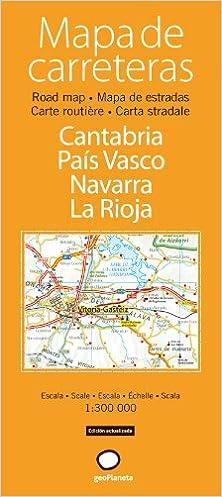 Mapa de carreteras de Cantabria, País Vasco, Navarra y La ...