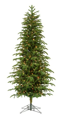Barcana 6 Foot Slim Star Fir Ready Trim Christmas Tree with 250 Clear Mini