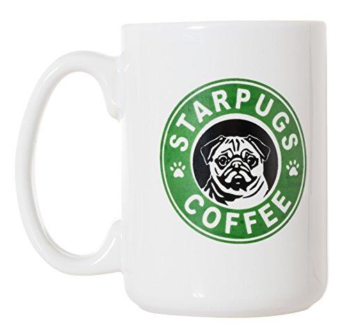 (Starpugs Coffee Mug for Pug Dog Lovers - 15oz Deluxe Double-Sided Coffee Tea Mug)