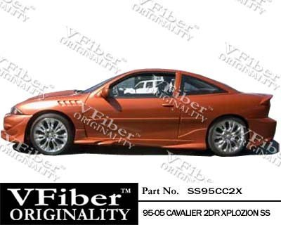 1995-2005 Chevrolet Cavalier 2dr Body Kit Xplozion Side Skirt