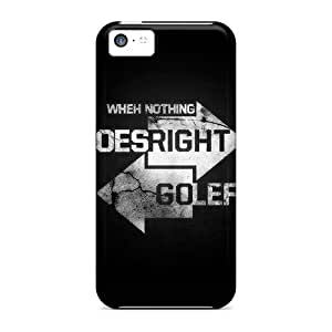 Iphone 5c Cover Case - Eco-friendly Packaging(go Right Left White)