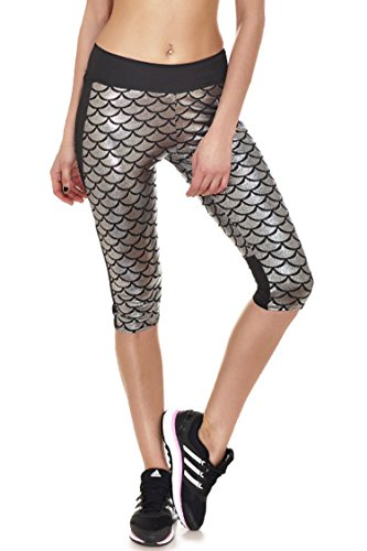 Fvous Womens Mermaid Leggings Running