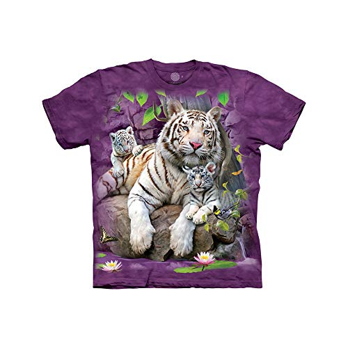The Mountain White Tigers Of Bengal Child T-Shirt, Purple, Small