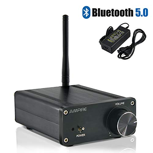 Great Features Of Mini Bluetooth Amplifier Stereo Desktop Receiver - Integrated 2 Channel Amp Class ...