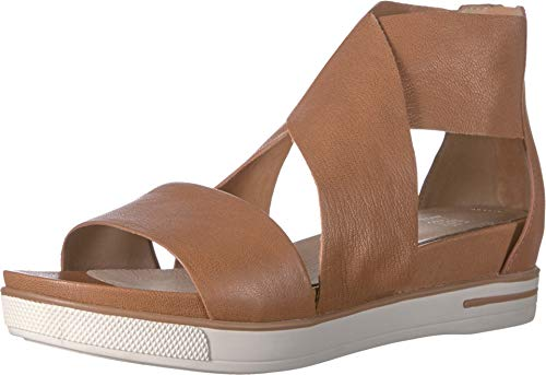 Eileen Fisher Women's Sport Camel Tumbled Leather 7 B US