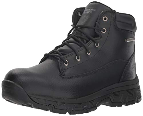 Skechers Men's Morson-SINATRO Hiking Boot, Black, 13 Medium US