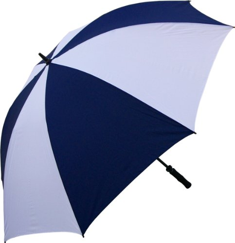 RainStoppers 68-Inch Oversize Windproof Golf Umbrella (Navy and White) (Jumbo Umbrella)