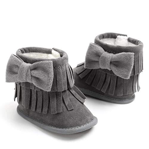 Baby Dimensione Keep Morbidi Neve Warm Shoes Da Doppio Zhrui Stivali Grigio Bowknot Viola Morbide Nappine Ponte Months 6~12 Scuro A colore Nappe qpTwxdAn