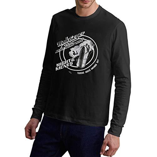 (Bob Seger The Final Tour Man's Comfortable Long Sleeve Cotton Tee XL Black )
