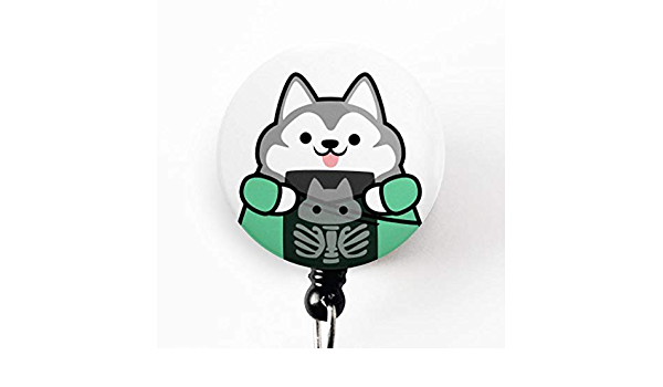 Nurse Badge Holder Nurse Badge Reel Husky Badge Reel Vet Tech Badge Reel Dog Badge Reel