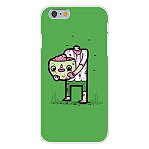 "Apple iPhone 6+ (Plus) Custom Case White Plastic Snap On - ""Self Sufficient"" Zombie Eating Own Brain"