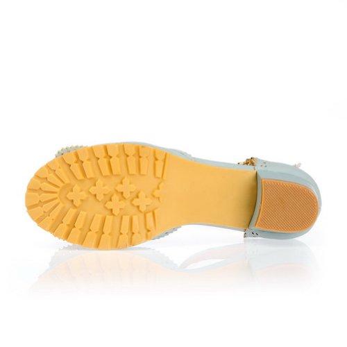 Femme Sandales Boucle Talons Bleu Solide balamasa faible Chaussures d7qOXWF