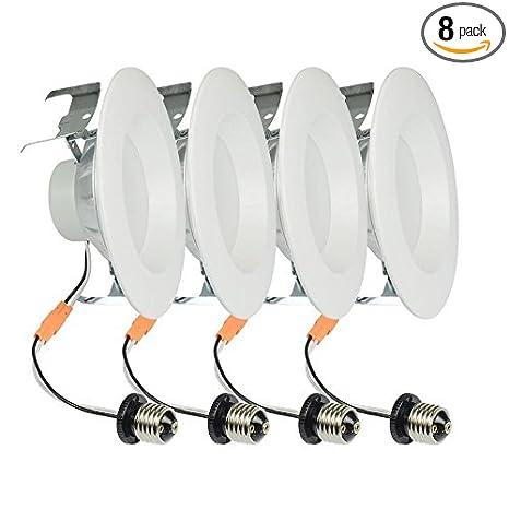 Amazon.com: Project Source - Pack de 4 focos LED empotrables ...