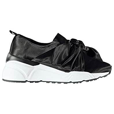 Firetrap Mujer Bow Sock Zapatillas Adorno de Lazo: Amazon.es: Zapatos y complementos