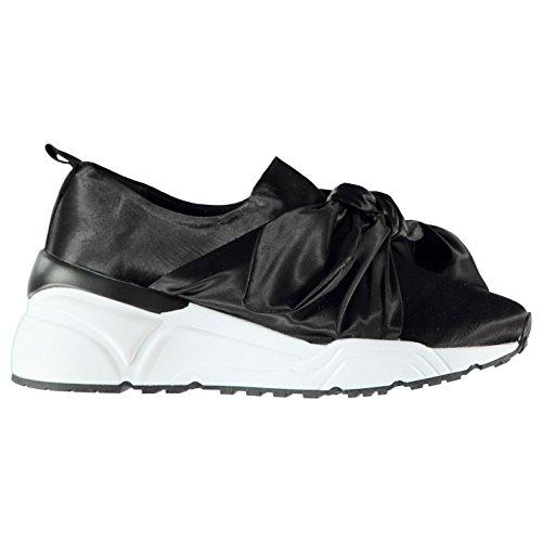 Femme Firetrap 37 Sock Sport Noir Chaussures Bow De 8aaxHO