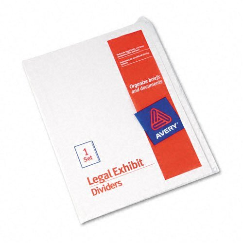 Avery Products - Avery - Avery-Style Legal Side Tab Dividers, 25-Tab, Blank, Letter, White, Set of 25 - Sold As 1 Set - Use alone or with 25-tab printed index dividers for easy customizing of legal index. - Rip ProofTM reinforced tabs for labeling to specific needs. - The binding edge is unpunched, so these dividers can fit paractically any binding system.