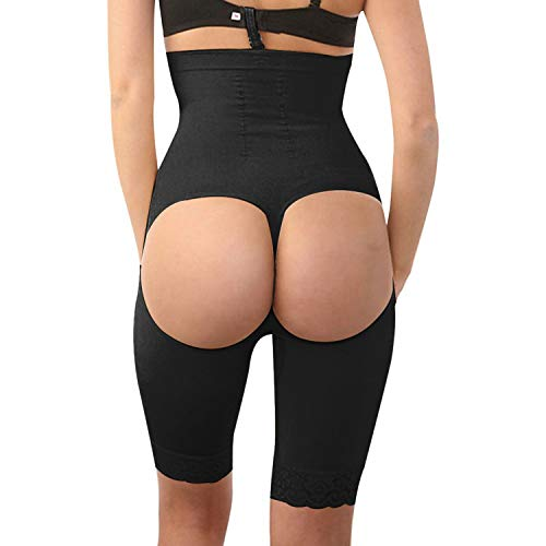 "Price comparison product image Agoky Women's Body Shaperwear Butt Lifter Panties Tummy Control High Waist Trainer Black Small / Medium (Waist 18.0""-28.0"")"