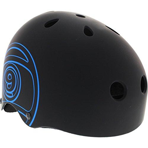Sector 9 Logic III Black / Blue Logo Skateboard Helmet - Large / 22.1