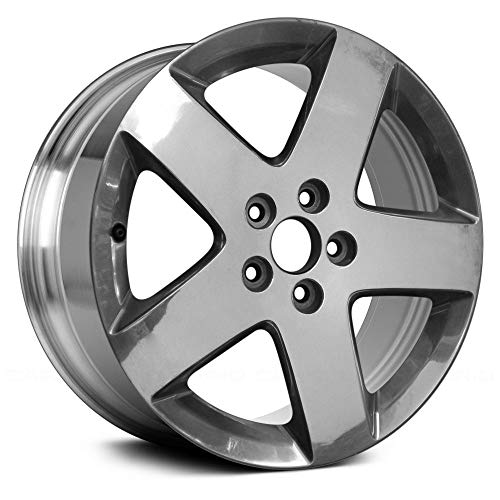 (Replacement 5 Spokes Full Polished Factory Alloy Wheel Fits Chevy HHR)