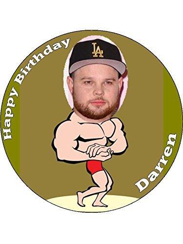 Surprising 7 5 Muscle Man Your Photo Personalised Edible Icing Birthday Cake Personalised Birthday Cards Xaembasilily Jamesorg
