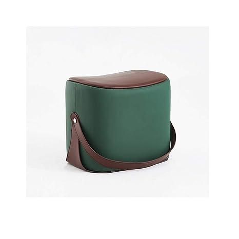 Outstanding Amazon Com Qyloz Portable Sofa Bench Square Pine Leather Dailytribune Chair Design For Home Dailytribuneorg