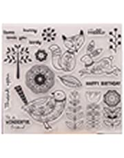 Animal Cats Mermaid Starfish Butterfly Birds Stamps Clear Rubber Stamps for Card Making Scrapbooking Christmas Stamps