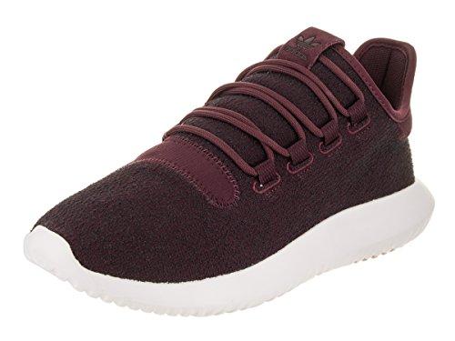 adidas Originals Men's Tubular Dusk Running Shoe, Maroon/Vapour Grey/White, 9.5