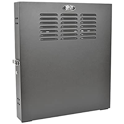 "TRIPP LITE 2U Wall Mount Low Profile Secure Rack Enclosure Server Cabinet, Vertical Mount, 20"" Deep SRW2U"
