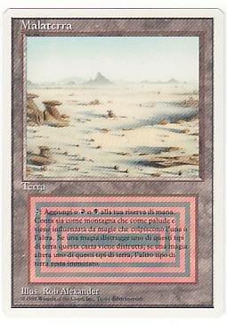マジックザギャザリング MTG 土地 イタリア語版 Badlands 3ED-282 レア B0146G13UE