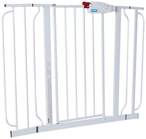 便宜的价格 Regalo Easy Step Extra Wide Walk Thru Gate, - Inches Wide, White