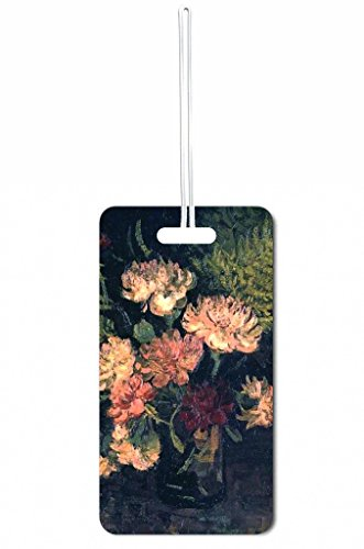 Vincent Van Gogh Vase With Carnations Rosie Parker Inc. Set of 6 Luggage Tags with Personalized Back