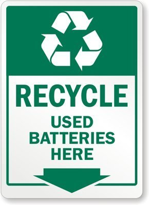 Amazon.com: Unoopler Recycle - Used Batteries Here (with ...