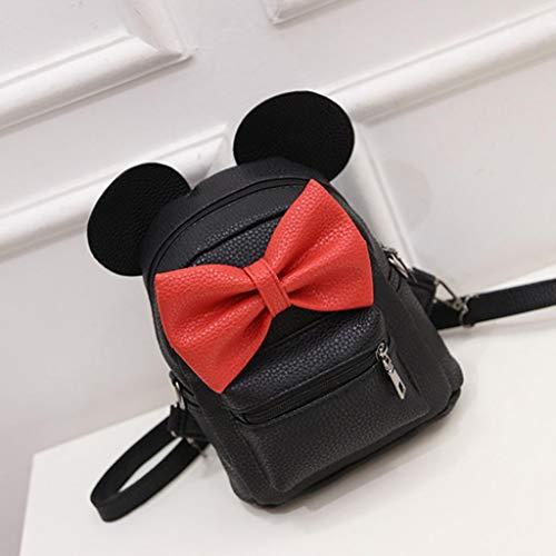 Black Strap Mini Crossbody Lightweight Cute Women Sling Backpack Shoulder Pet for Ear Small School Slim Gray Fashion Student Bag Lolittas Girls RT1qw5