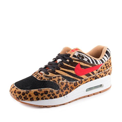 NIKE Mens Air Max 1 DLX Animal Pack Wheat/Red-Bison Synthetic Size (Dlx Air)