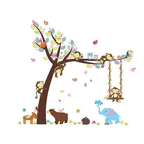 ElecMotive Cartoon Forest Animal Monkey Owls Hedgehog Tree S