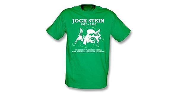 Jock Stein - puro, camiseta hermosa, inventiva del fútbol, verde de Kelly del color: Amazon.es: Deportes y aire libre