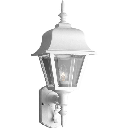 Progress Lighting P5656-30 Wall Lantern with Clear, Beveled Acrylic Panels, White 30 Non Metallic Lanterns