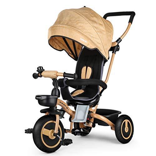 Fascol Baby Dreirad 4 in 1 Kinderdreirad Tricycle für Kinder Kinderwagen DHL