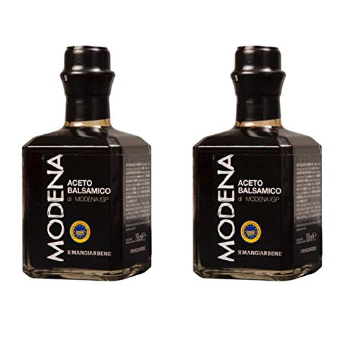 Balsamic Vinegar di Modena IGP (2 x 8.45 Oz) - Certified Product from Italy, by Serendipity Life. Aceto Balsamico IGP Barrel Aged Premium Thick and Glossy for a perfect dressing (250 ml) (2 Pack) by Serendipity Life (Image #1)