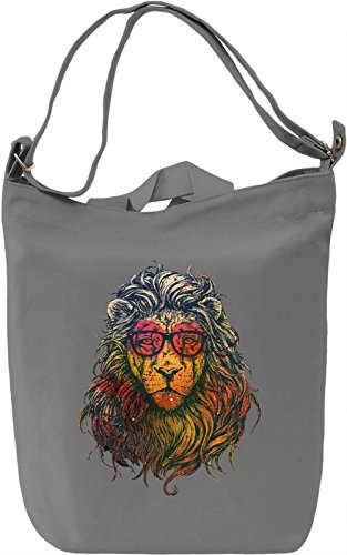 Geek Lion Borsa Giornaliera Canvas Canvas Day Bag| 100% Premium Cotton Canvas| DTG Printing|
