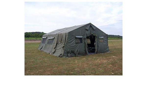 Amazon com : Military-Army Temper Tent 20' X 24' : Sports