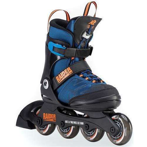 K2 Skate Youth Raider Pro Inline Skates, Blue/Orange, 4-8