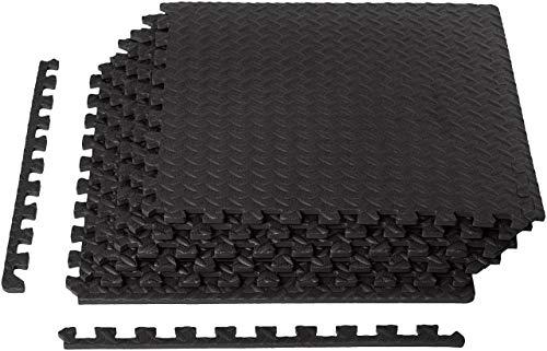 AmazonBasics Exercise Mat with EVA Foam Interlocking Tiles (Renewed)