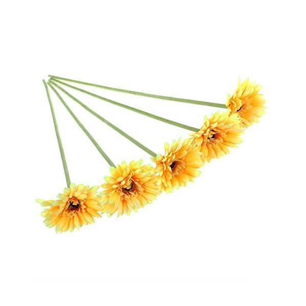 ULTNICE-5pcs-Wedding-Gerbera-Daisy-Artificial-Flowers-for-Home-Decoration-Yellow