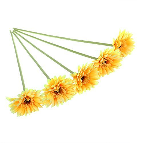 ULTNICE-5pcs-Wedding-Gerbera-Daisy-Artificial-Flowers-for-Home-Decoration-Yellow