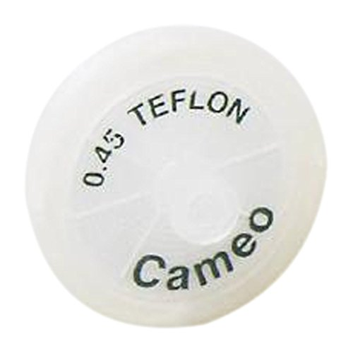 GVS Life Sciences 4650C82 Cameo Teflon Syringe Filter, Pore Size 0.45 µm, 30 mm Diameter (Pack of 200)