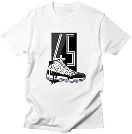 f5f0f7de7a0bf1 Custom T Shirt Matching Style of AIR Jordan XI Concord Black JD 11-4-