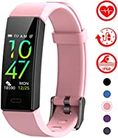 Mgaolo Fitness Tracker with Blood Pressure Heart Rate Sleep Monitor,10 Sport Modes IP68 Waterproof Activity Tracker Fit...